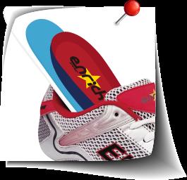 合腳-視兩腳的狀況而抽換鞋墊